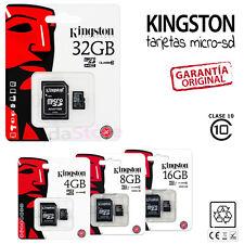 TARJETA MEMORIA KINGSTON MICROSD MICRO SD 4 8 16 32 GB 4GB 8GB 16GB 32GB