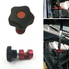 Red Steel Car Hood Engine Cover Locks Shock Absorbers Strut Stopper Anti-slip 1x