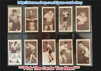 ☆ Churchman - Boxing Personalities 1938 (G) ***Pick The Cards You Need***