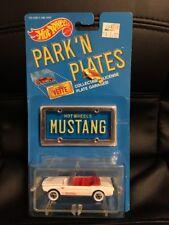 1988 Hot Wheels Park 'N Plates '65 Mustang Convertible Blue Plate