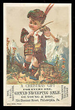 CHRISTMAS GIFT, DE YOUNG & BRO ~ 704 CHESTNUT ST~  PHILADELPHIA TRADE CARD TC922
