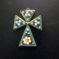 Mosaic Italian Cross Pendant Made in Italy