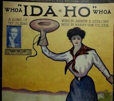 "1906 Whoa ""Ida-Ho"" Whoa - Harry Von-Tilzer - Jazz Sheet Music"