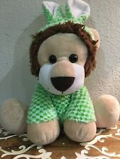 BIG Inter American Lion In Green White Easter Bunny Rabbit Costume Plush Stuffed