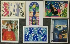 LOT OF 6 POSTCARDS OF PAINTINGS BY MATISSE