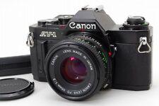 Exc+++++ Canon AV-1 35mm SLR  Black w/ FD 50mm f/2 NFD New FD from Japan 41