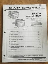 Sharp Copier sf/2020/2120 service & Parts manual