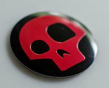 "DOME SHAPE Aluminum Red Skull Auto Car Decal Sticker 2.20"" Diameter"