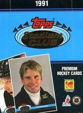 1991-92 Topps Stadium Club Hockey Box - 36 packs per box