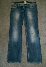 Mens TRUE RELIGION Ricky Super T Blue Jeans,W34/L32