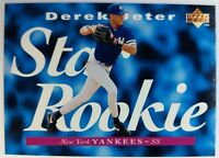 DEREK JETER RC 1995 95 UPPER DECK BASEBALL STAR ROOKIE CARD #225 YANKEES SHARP!