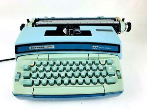 Vintage Portable Typewriter Electric Smith Corona Coronet Super 12 Cleaned