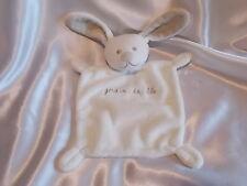 Doudou lapin beige, intérieur des oreilles blancs, Grain de blé