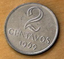 1969 Brazil 2 Centavos Mint Error