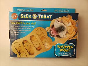 NEW SPOT SEEK A TREAT SHUFFLE BONE INTERACTIVE DOG TOY