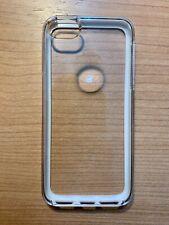 Custodia Cover RIGIDA per Apple iPhone SE o 5 5S - Mod. DUO CLEAR e BIANCO