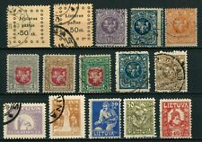 LITHUANIA OLD STAMPS 1919 - 1921 - USED/SOME UNUSED