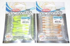 "Berkley Powerbait Ice 1.25"" Ice Whipworm Jig Trailer (Lot of 2-Chart/Nat-15/pk)"