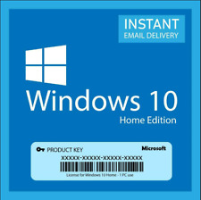 WIN 10 HOME 32/64 BIT GENUINE ACTIVATION KEY INSTANT DELIVERY 5 SECONDS