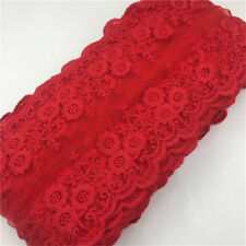 Wholesale 13yards/lot 12cm Red Embroidered Lace Edge Trim Ribbon Sewing Craft
