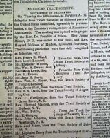 AMERICAN TRACT SOCIETY Evangelical Christain Literature CREATED 1825 Newspapers