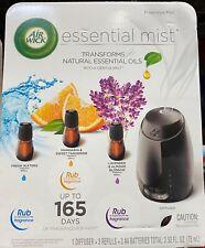 Airwick essential oils diffuser mist kit- 1 warmer + 3 refills.
