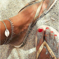 Ankle Bracelet Women Steel Gold/Silver Chain Shell Anklet Foot Fashion Stainless