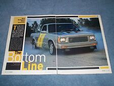 "1992 GMC Sonoma Drag Truck Article ""The Bottom Line"" S10 S15"