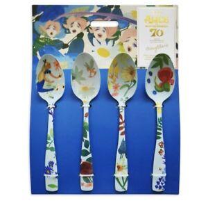 Disney Parks Alice In Wonderland 70th Mary Blair Tea Spoons Set of 4 - NEW