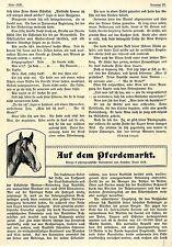 Auf dem Pferdemarkt Buttstädter Roßmarkt in Thüringen Histor. Memorabile 1908