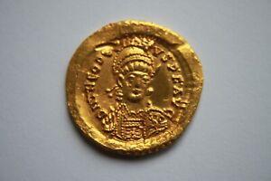 QUALITY ANCIENT ROMAN GOLD SOLIDUS THEODOSIUS II 4th Century AD
