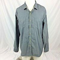 Goodthreads Mens Shirt L Blue Denim Chambray Button Down Oxford Standard Fit
