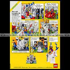 LEGO LEGOLAND Chevalerie Château Moyen-Age 1985 - Pub Publicité / Ad #A1028