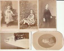 RARE LOT DE 5 PHOTOS DE LA MÊME FAMILLE FILLETTE ROBE de COCHEY à BEAUNE CDV