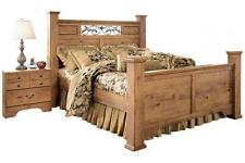 Ashley Bittersweet B219 King Size Poster Bedroom Set 2 Night Stands Casual Style