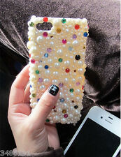 Bling bling pearl Fashi Colored rhinestone For Various Mobile Phones  Cover Case