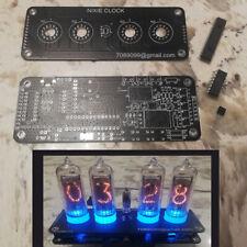 DIY Nixie Clock 4 x IN-14 + IN-3 RGB Backlight Alarm *** PCB & IC only ***