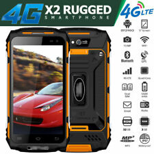 """5"""" Unlocked 4G LTE Rugged Android Smartphone Cell Phone Dual SIM Waterproof X2"""