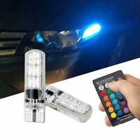 T10 5050 Remote Control Car Led Bulb 6-Smd Multicolor W5w Side Light Bulbs