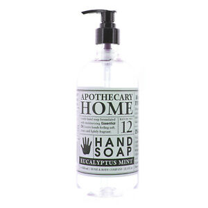 Home & Body Co Hand Soap Apothecary Home Moisturizing, Eucalyptus Mint, 21.5 oz