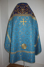 Orthodox Priest Vestments Embroidered Blue Russian style TO ORDER!