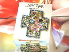 Kirks Folly Butterfly 4 Season's Cross Pin Enhancer goldtone  limited production
