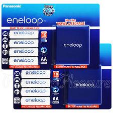 8 x Panasonic Eneloop AA 1900mAh batteries Rechargeable BK-3MCCE Storage box
