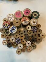 41 Vintage Sewing Thread Wooden Spools Coats And Clarks , Star , J&P Coats Etc