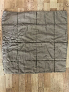 "Ikea Gulved Linen Padded Pillow Cushion Cover Natural Beige Size 26""x26"" Zip"