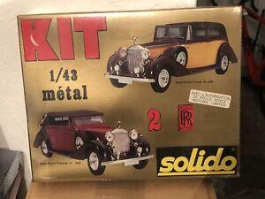 Kit à monter Solido Rolls Royce Phantom III et coupé de ville 1/43