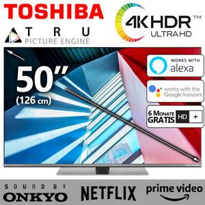 Toshiba TV 50 Zoll Fernseher Smart HDR 4K HD Dolby Netflix Prime DVBT2/C/S2 NEU