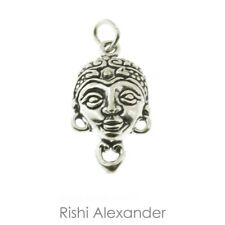 925 Sterling Silver Saraswati Indian Hindu Goddess Charm American Made