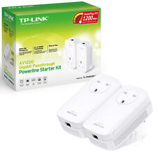TP-LINK TL-PA8010P KIT 1200MBPS GB POWERLINE ADAPTOR KIT WITH AC PASS THROUGH