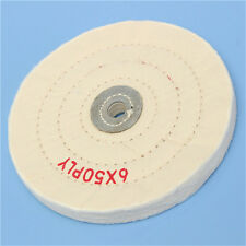 6in Cloth Buffing Polishing Wheel 1/2in Arbor Buffer Polish Grinder White Pad